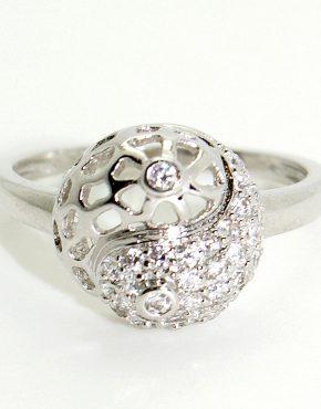 Ezüst jin-jang gyűrű