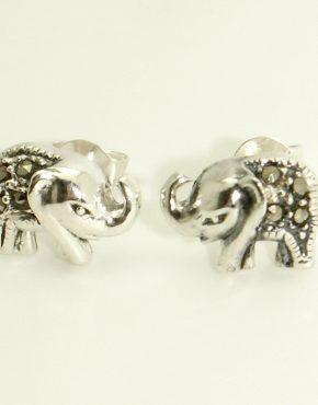 Markazit köves elefánt fülbevaló
