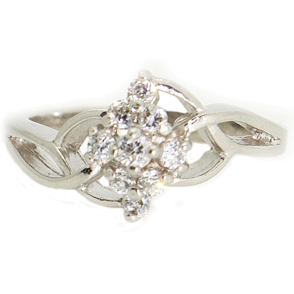 3ef5136879 Fonott gyűrű cirkónia kővel Ezüst eljegyzési gyűrű, Ezüst gyűrűk