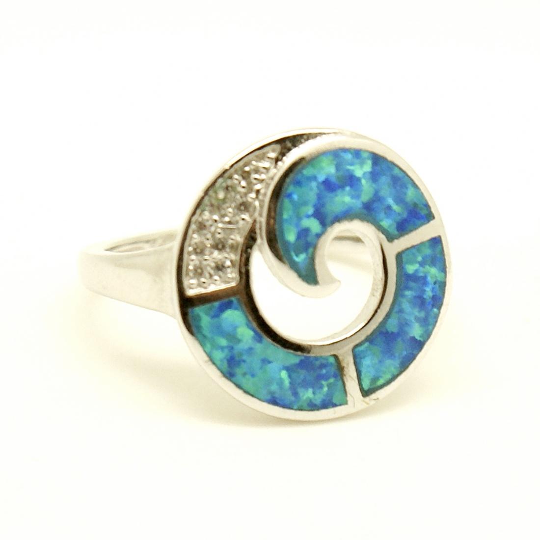 Spirálos opál gyűrű