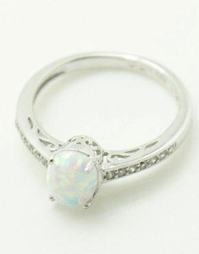 Egyedi opálos ezüst gyűrű