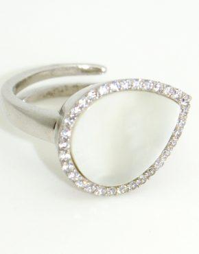 Gyöngyház csepp gyűrű