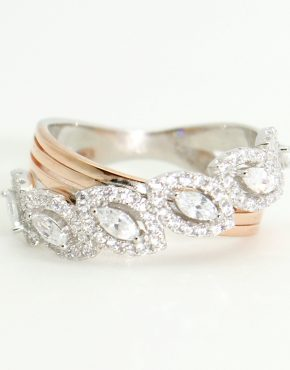 ezüst-arany gyűrű