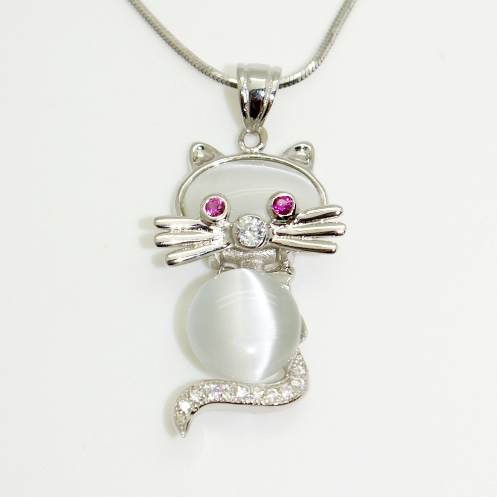 Gyöngyház ezüst cica
