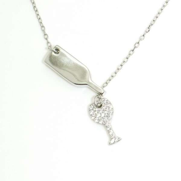 ezüst boros collier